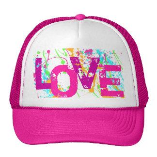 Gorra del camionero del amor de las rosas fuertes