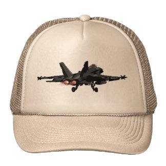 Gorra del camionero del avión de combate del avisp