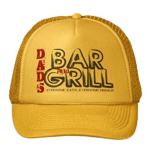 Gorra del camionero del bar y grill del papá