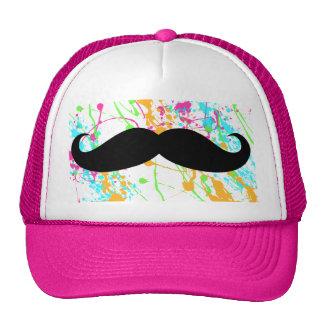 Gorra del camionero del bigote de las rosas fuerte