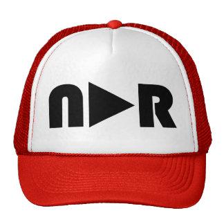 Gorra del camionero del botón de reproducción del