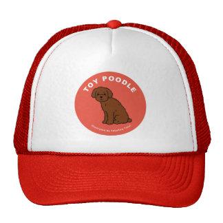 Gorra del camionero del caniche de juguete