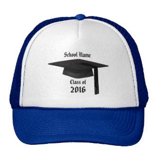 Gorra del camionero del casquillo de la graduación