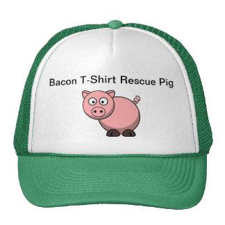 Gorra del camionero del cerdo del rescate de la ca