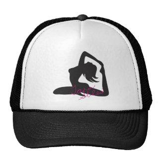 Gorra del camionero del chica de la yoga