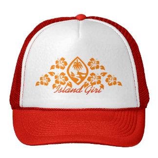 Gorra del camionero del chica del isleño del sello