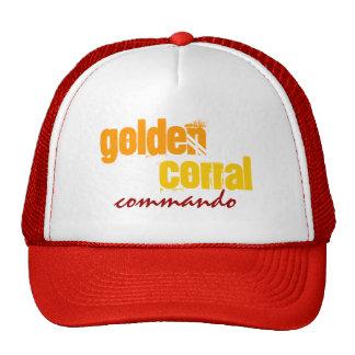 "¡Gorra del camionero ""del COMANDO DE ORO del CORRA Gorro"