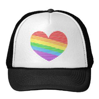 Gorra del camionero del corazón de la raya del arc