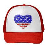 Gorra del camionero del corazón de los E.E.U.U. de