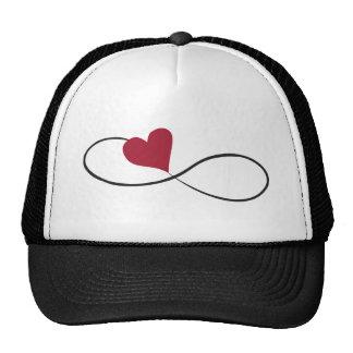Gorra del camionero del corazón del infinito