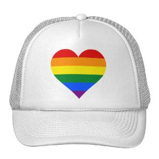 Gorra del camionero del corazón del orgullo de LGB