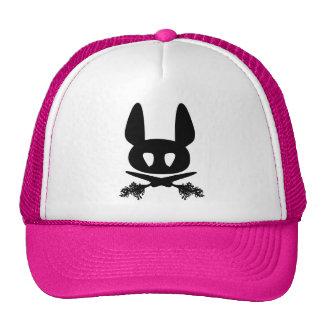 Gorra del camionero del cráneo del conejo de conej