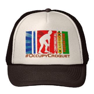 Gorra del camionero del croquet (Brown y moreno)