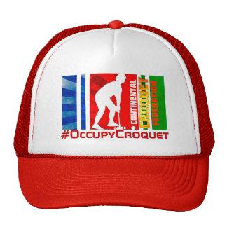 Gorra del camionero del croquet (rojo)