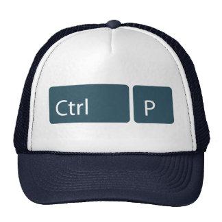 Gorra del camionero del Ctrl P (impresión)
