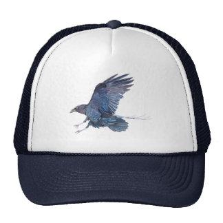 Gorra del camionero del cuervo