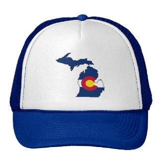 Gorra del camionero del esquema de Michigan de la