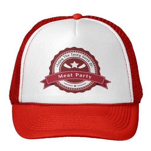 Gorra del camionero del fiesta de la carne