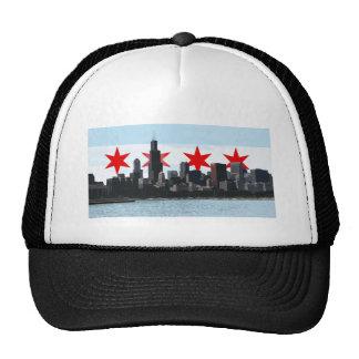 Gorra del camionero del horizonte de la bandera de
