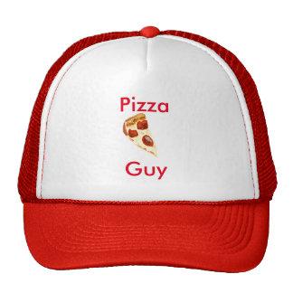 Gorra del camionero del individuo de la pizza