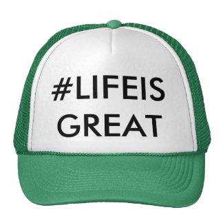 Gorra del camionero del LIFEISGREAT de Hashtag