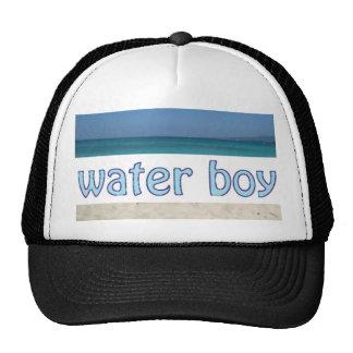 Gorra del camionero del muchacho de agua