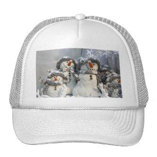 Gorra del camionero del muñeco de nieve del navida