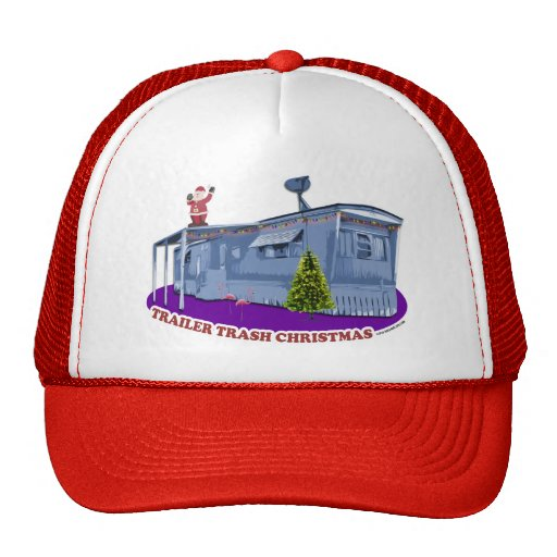 Gorra del camionero del navidad de la basura del r