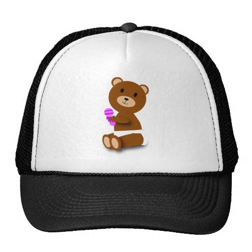Gorra del camionero del oso del bebé