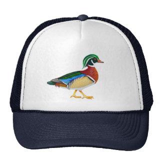 Gorra del camionero del pato de madera