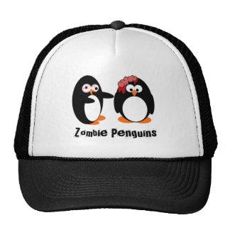 Gorra del camionero del pingüino del zombi