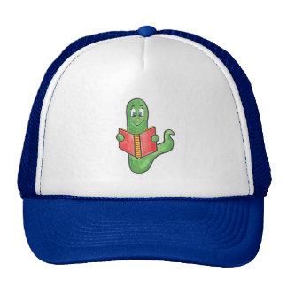Gorra del camionero del ratón de biblioteca