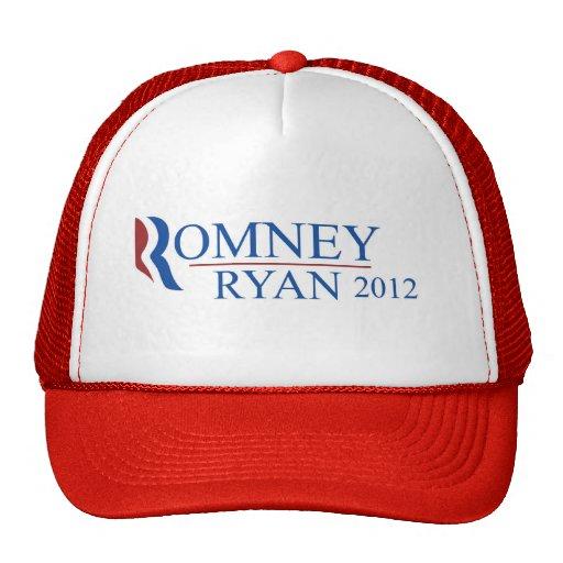 Gorra del camionero del rojo de Romney Ryan 2012