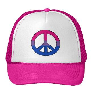 Gorra del camionero del signo de la paz de la band