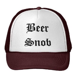 Gorra del camionero del snob de la cerveza