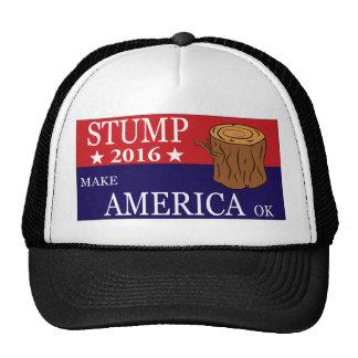 Gorra del camionero del tocón