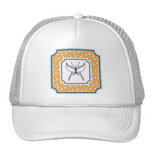 Gorra del camionero del vuelo de la mariposa - mel