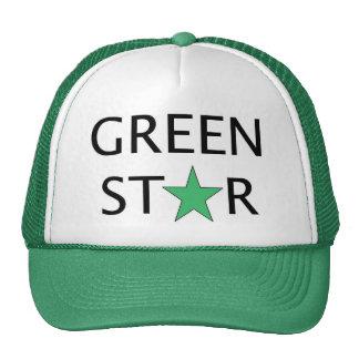 Gorra del camionero - estrella verde