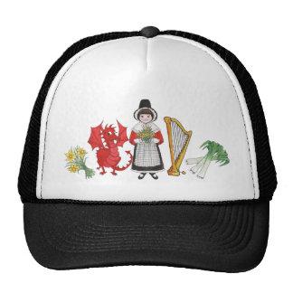 Gorra del camionero: Galés, narcisos, dragón, puer