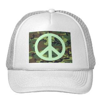 Gorra del camionero VERDE del CAMUFLAJE Y del
