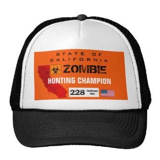 Gorra del campeón de la caza del zombi