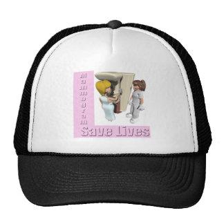 Gorra del cáncer de pecho de los mamogramas