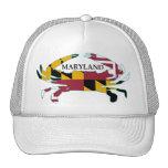 Gorra del cangrejo de la bandera de Maryland