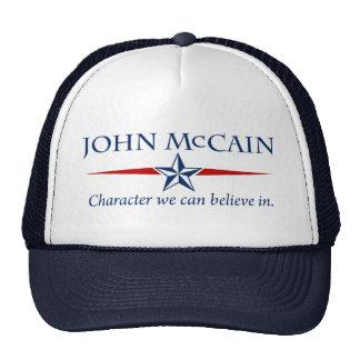 Gorra del carácter de John McCain