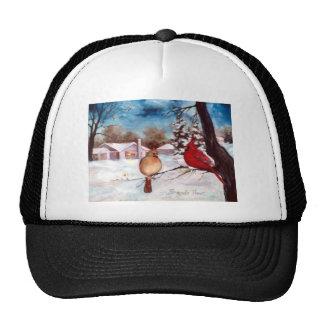 Gorra del cardenal de la serenidad de los invierno