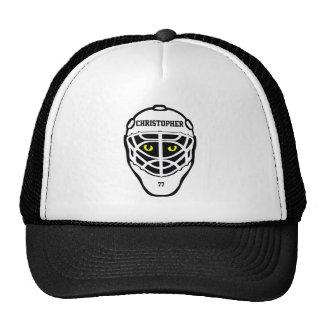 Gorra del casco de los ojos de gato del hockey