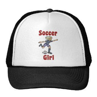 Gorra del chica del fútbol