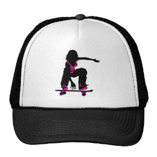 Gorra del chica del patinador