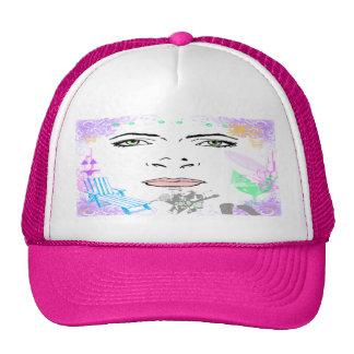 Gorra del chica del verano