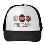 Gorra del chocolate del amor de la paz